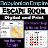 Babylonian Empire: Escape Room - Social Studies (Ancient Mesopotamia Activity)
