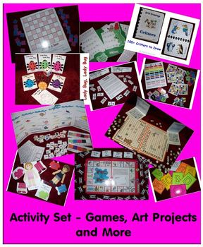 Babysitter Activity Set - Games, Art Recipes, Puzzles, Education dressed as Fun