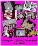 Babysitter Activity Set - Games, Art Recipes, Puzzles, Edu