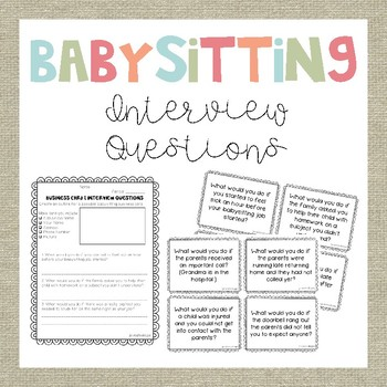 Babysitting Business Cards and Interview Questions