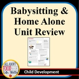 Babysitting & Home Alone Unit Review Activity