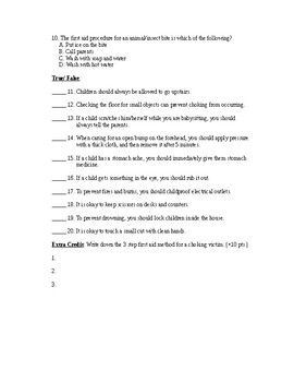Babysitting Safety Quiz