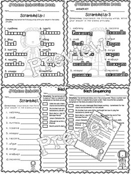 Bach Critical Thinking Worksheets (Composer of the Month)