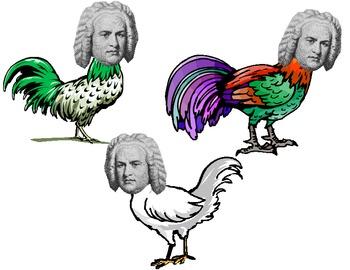 Bach Bach Chickens Music Bulletin Board