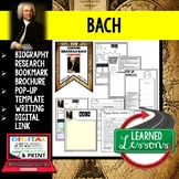 Bach Biography Research, Bookmark Brochure, Pop-Up Writing Google