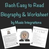 Bach- Biography & Worksheet- Easy To Read