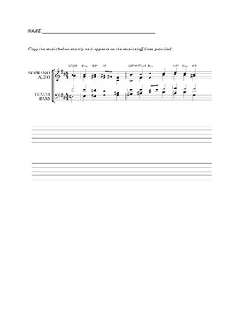 Bach Chorale Writing Assignment