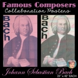 Bach Collaboration Portrait Poster - Famous Musicians Series