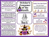 Bach Composer of the Month (October) Bulletin Board Kit
