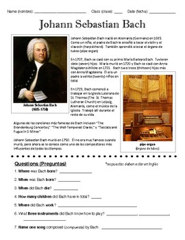 Bach ELL Worksheet