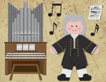 Bach - Famous Composers Clip Art Set