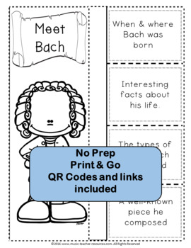 Music Composers: BACH Foldables