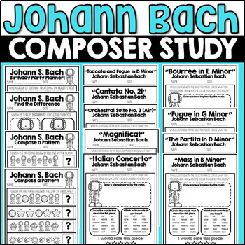 Bach Fun Pack!  Classical Composer, March, Spring, Handwriting, Music, Baroque