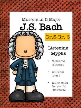 Bach Musette in D major listening glyphs Gr.3- Gr. 6