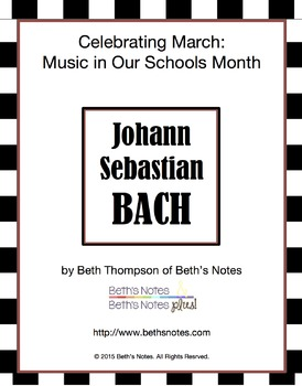 Bach: Questions, Word Search, Assessment, Printables