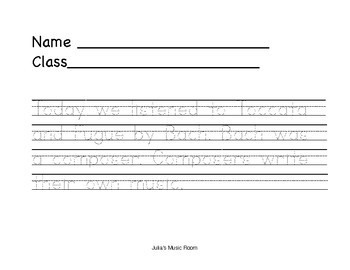 Bach Worksheet- Trace and Draw