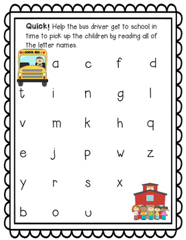 Bach to School Letter Naming Fluency