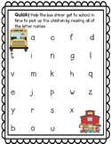 Bach to School Letter Naming Fluency BUNDLE