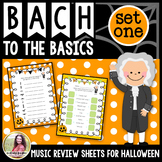Bach to the Basics: Halloween Review Sheets for Elementary