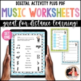 Distance Learning Digital Music Worksheets: Bach to the Basics 1