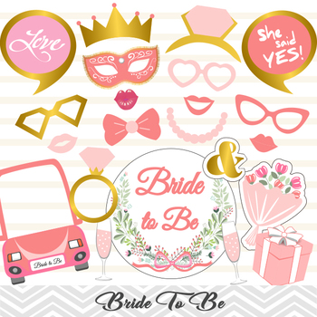 bachelorette party photo booth props bridal shower photo booth props