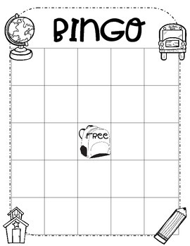 Back 2 School BINGO