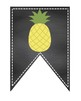 Back 2 School Banner Pennant  multiple colors rainbow pineapple