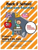 Back to School! Classroom Routines
