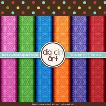 Back 2 School Designer Bundle -  Digi Clip Art - CU Clip Art