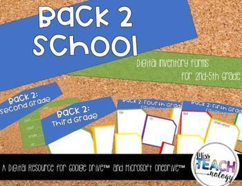 Back 2 School Digital Inventory