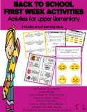 Back 2 School First Weeks Activities for Upper Elementary