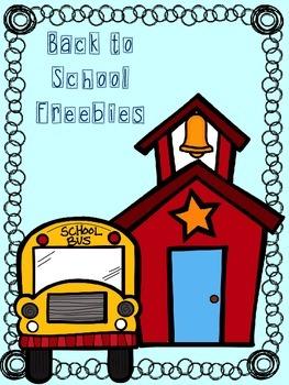 Back 2 School Freebies