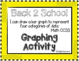 Measurement & Data Activity - Back 2 School Graphing