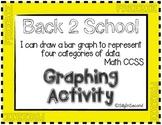 Measurement & Data Activity - Back 2 School Graphing