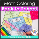 Back 2 School Integers Coloring Pages
