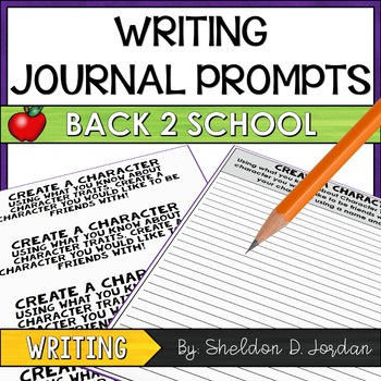 Journal Writing Prompts: Back 2 School Edition