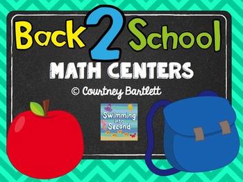 Back 2 School Math Centers