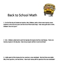 Back 2 School Math