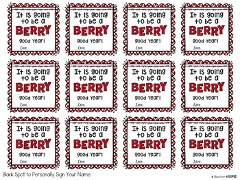 Back 2 School Berry Excited Student Gift Tags *Editable*