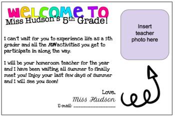 Back 2 School Post Card