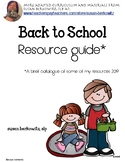 Back to School Resource Guide AAC Speech Language Literacy