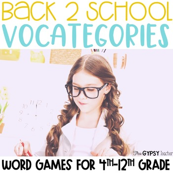 Back 2 School Scattergories