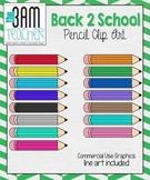 Back 2 School Supplies: Pencil Clip Art / Graphics