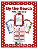 Back Pack Tags coordinates with 'By the Beach' ~ Special E