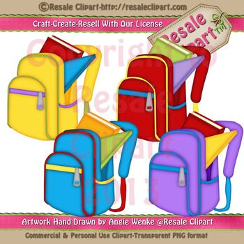 Back Packs 1 ClipArt - Commercial Use