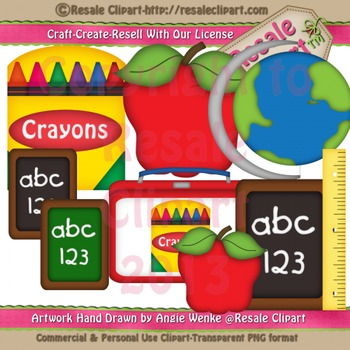 Back to School 2 ClipArt - Commercial Use