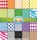 Back To Basics Patterns Digital Scrapbook Pack 1 — Includes 200 Pages!