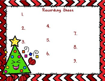Back To My Seat Station 3 Digit by 1 Digit Multiplication Christmas Theme