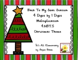 Back To My Seat Station 4 Digit by 1 Digit Multiplication | Christmas Theme