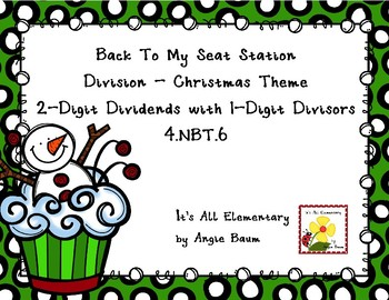 Back To My Seat Station Division 2 Digit Dividends - Christmas